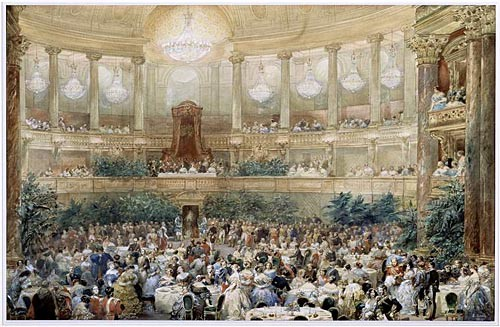 Supper Offered By Emperor Napoleon Iii To Queen Victoria In The