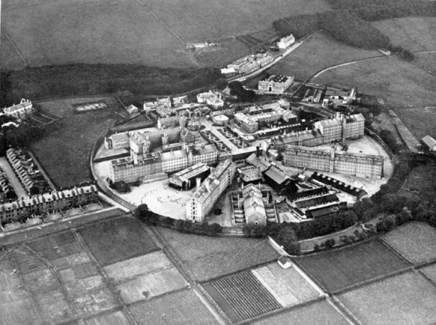 An aerial view from the early twentieth century.