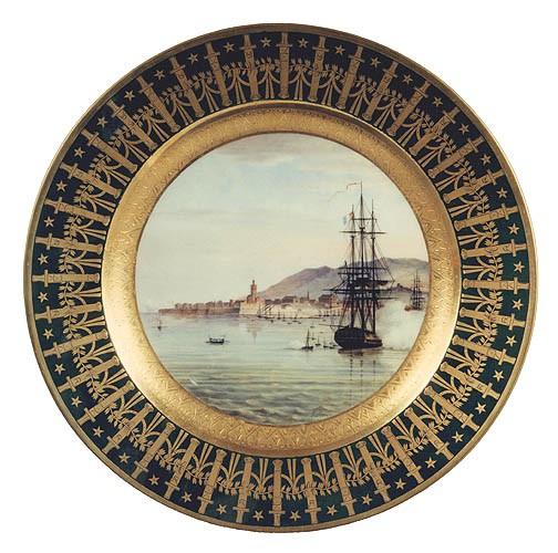 La frégate <i>La Muiron</i> débarquant à Ajaccio avec Bonaparte en octobre 1799