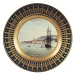 "The frigate ""La Muiron"" landing at Ajaccio with Bonaparte in October 1799"