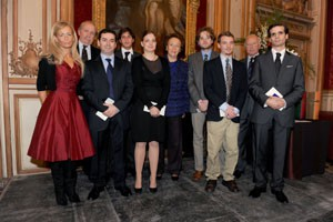 The awardees, H.I.H. the Princess Napoleon and the Prince d'Essling © Fondation Napoléon