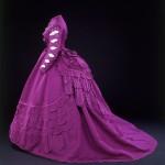 Woman's dress. Taffeta and silk. France, c.1869.