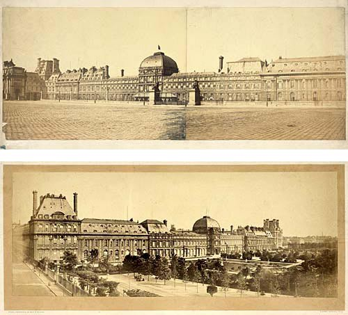 Deux photographies du palais des Tuileries