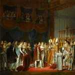 The religious marriage of Napoleon I and Marie-Louise in the Salon Carré at the Louvre, on 2 April, 1810