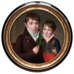 Jacques Prosper Masséna, Comte d'Essling, et son frère François Victor