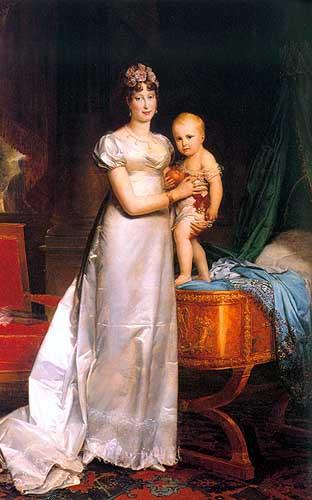 Marie-Louise Impératrice des Français et le roi de Rome