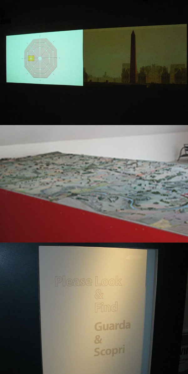 "<i>The</i> Ville des Victoires<i>, large model map and ""Look and find"" exhibits for children</i>"" /> <BR>And since it has no objects, the museum is free to retell the history using all the tools of the modern digital world, stimulating the eyes, ears, and fingers. This liberation from the constraints of ""the exhibit"" allows a much more sophisticated approach than is customary. Here video screens placed side-by-side recount the campaign alternately from the French and Austrian viewpoints, here an animation projected onto a table top shows the movements of the French and Austrian troops, <A class=texteIntro href="