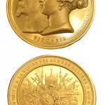 """Médaille commémorative de la Guerre de Crimée : """"A la gloire des armées alliées"""""""
