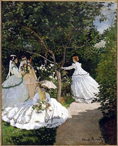 Femmes au jardin for Jardin romantique francais
