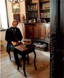 Wax model of Maréchal Ney in his library © Château de Bessonies
