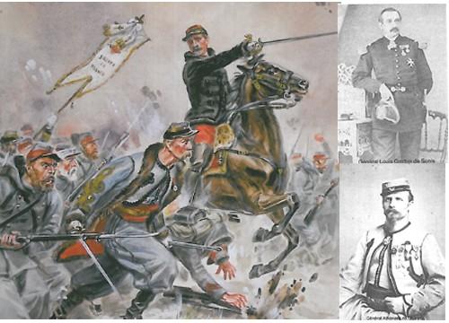 La Charge de Loigny. En haut : Général de Sonis. En bas : Général de Charette.