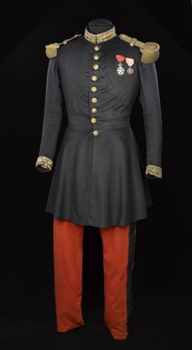 Tunique et pantalon de petite tenue portés par Napoléon III à la bataille de Solferino