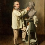 Jean-Antoine Houdon sculpting the bust of First Consul Bonaparte