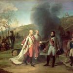Entrevue de Napoléon Ier et de François II après la bataille d'Austerlitz (4 décembre 1805)