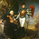 Le général de Lariboisière faisant ses adieux à son fils, lieutenant au 1er de carabiniers, au début de la bataille de la Moskowa, le 7 septembre 1812
