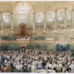 Souper offert par l'empereur Napoléon III à la reine Victoria dans la salle de l'Opéra du château de Versailles, le 25 août 1855