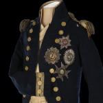 Habit de petit uniforme et épaulettes portés par lord Nelson à la bataille de Trafalgar
