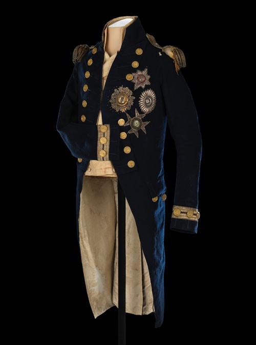 Uniform and Epaulettes Worn by Lord Nelson at the Battle of Trafalgar