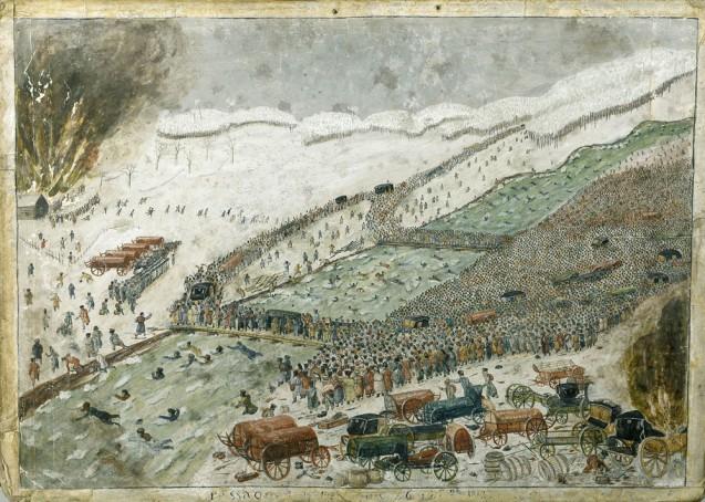 Passage de la Bérézina par l'armée française, le 28 novembre 1812