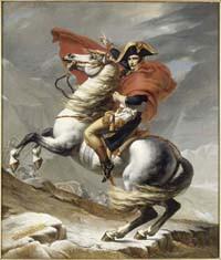 Bonaparte franchissant le col du Grand Saint-Bernard © Châteaux de Versailles, Trianon RMN / Blot
