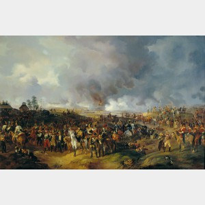 La bataille de Leipzig, Alexander Ivanovich Sauerweid © musée national de Tsarskoïe Sielo, Russie