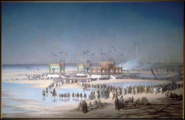 Cérémonie d'inauguration du canal de Suez à Port-Saïd, le 17 novembre 1869