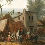 La bataille de Marengo, de Swebach Desfontaines 1801 : détail de la signature de l'artiste