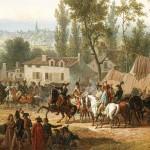 La bataille de Marengo de Swebach Desfontaines, 1801 : détail le Premier Consul Napoléon Bonaparte donne ses ordres