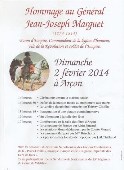 Hommage au général Jean-Joseph Marguet