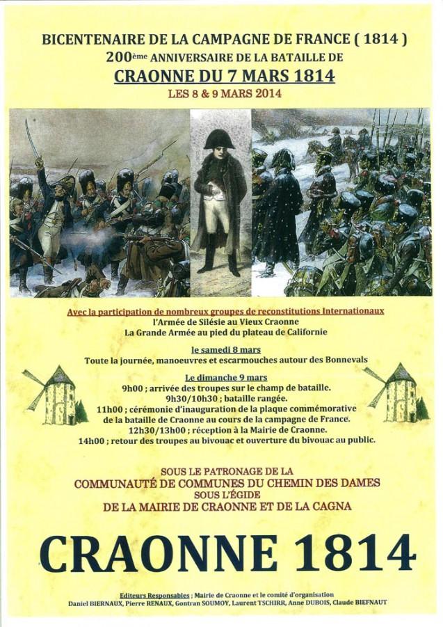 Bicentenaire de la campagne de France : commémoration de la bataille du 7 mars 1814 à Craonne