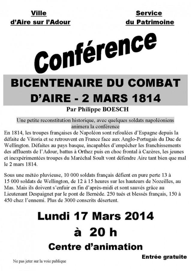 Bicentenaire de la campagne de France : commémoration des combats d'Aire-sur-l'Adour
