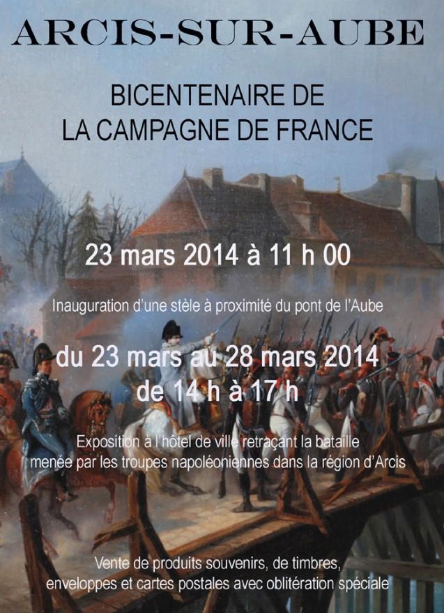 Bicentenaire de la campagne de France : commémoration d'Arcis-sur-Aube