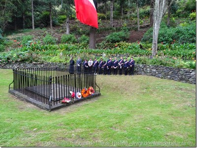 Commemoration of the death of Napoleon I: Memorial ceremony on St Helena