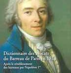 Dictionnaire des avocats du Barreau de Paris en 1811