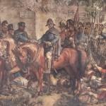 La rencontre de Wellington et Blücher après la bataille de Waterloo