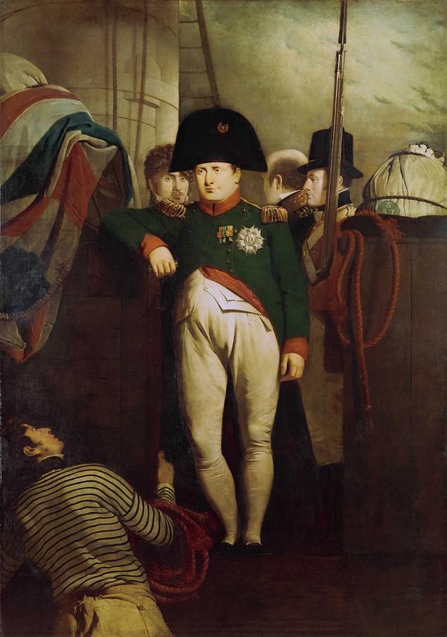 Napoléon à bord du <i>Bellerophon</i> dans la rade de Plymouth