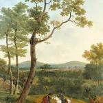 Napoléon 1er chassant à courre dans la forêt de Fontainebleau