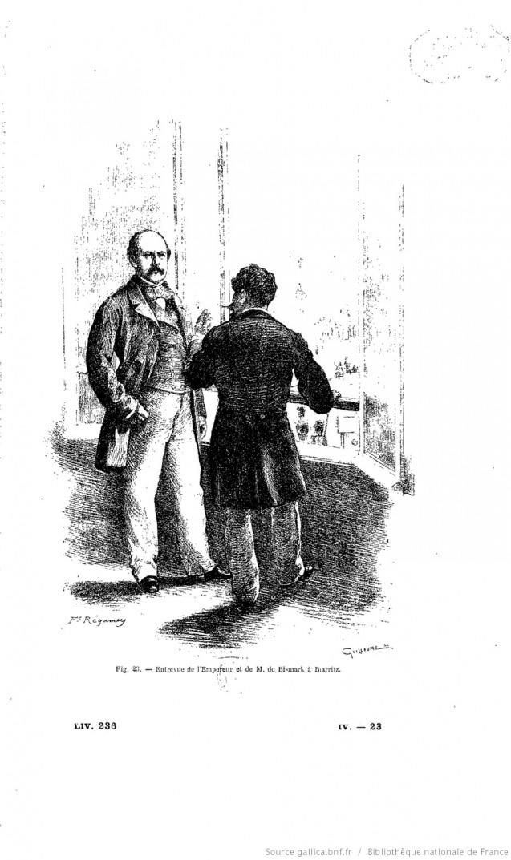 Octobre 1865 : l'entrevue de Biarritz.Histoire illustrée du Second Empire. Tome 4, Taxile Delord (1892) © Gallica, BnF