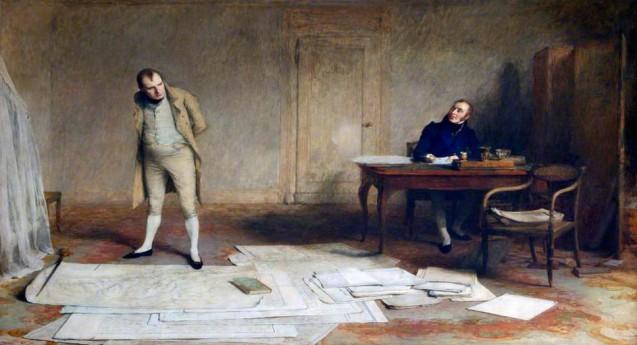 Napoléon dictant au comte Las Cases le récit de ses campagnes
