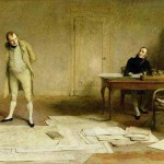 St Helena 1816 – Napoleon dictating to Count Las Cases the Account of his campaigns