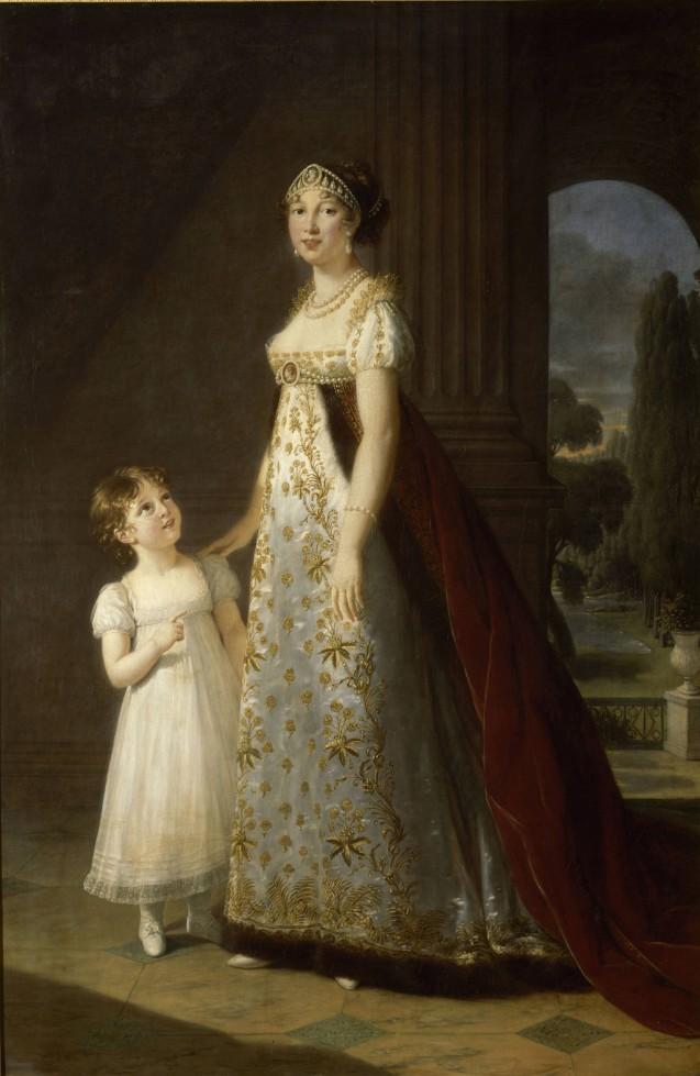 Portrait de Caroline Murat, grande-duchesse de Clèves et de Berg