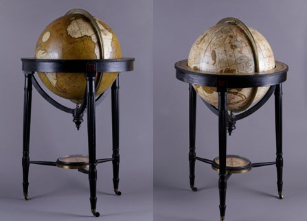 Napoleon's terrestrial and celestial globes from Longwood