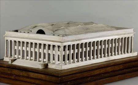 Scale-model for Brongniard's Palais de la Bourse