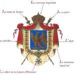 La symbolique impériale et napoléonienne : Aigle, abeilles, Légion d'honneur, lettre N, …