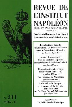 REVUE DE L'INSTITUT NAPOLEON