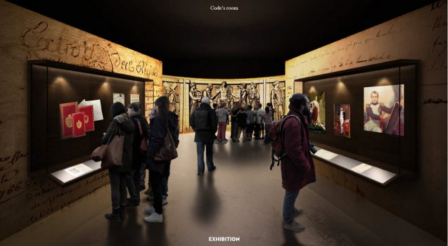 Artist's impression of part of the exhibition