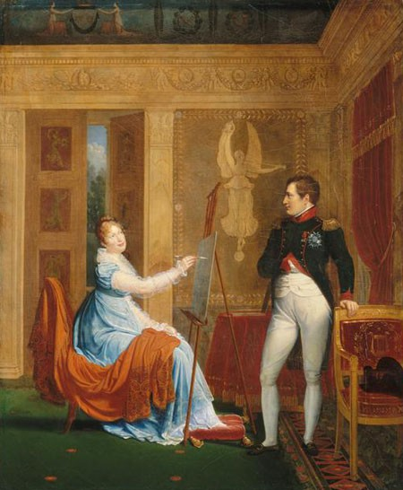 Salon 1810 : L'impératrice Marie-Louise faisant le portrait de Napoléon Ier