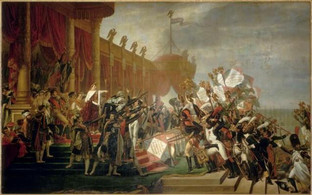 Salon 1810 : Serment de l'Armée fait à l'Empereur après la Distribution des Aigles au Champ de Mars
