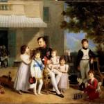Salon 1810 : Napoléon Ier entouré après son déjeuner des jeunes princes et princesses de sa famille