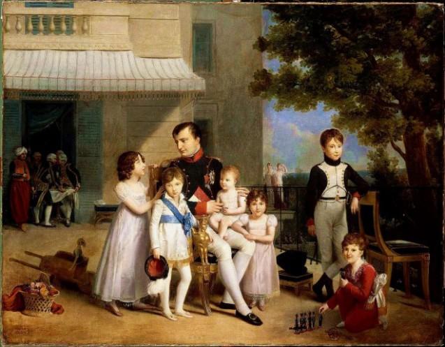 Napoléon Ier entouré après son déjeuner des jeunes princes et princesses de sa famille, par L. Ducis, 1810 © RMN-Grand Palais (Château de Versailles) / Franck Raux